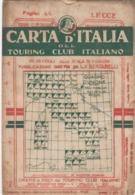 9515-CARTA D'ITALIA DEL TOURING CLUB ITALIANO-LECCE-1939 - Carte Geographique