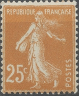 Type Semeuse Fond Plein, Inscriptions Grasses, Type IIIB. 25c. Jaune-brun Neuf Luxe ** Y235 - Francia