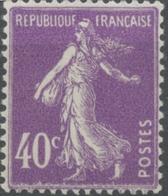 Type Semeuse Fond Plein, Inscriptions Grasses, Type II. 40c. Violet Neuf Luxe ** Y236 - Francia
