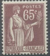 Type Paix. 65c. Violet-brun Neuf Luxe ** Y284 - Nuovi