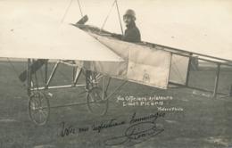 """Pionnier Aviation PICARD - Signature AUTOGRAPHE Sur  CP PHOTO """" Nos Officiers Aviateurs Modern'Photo """" - Aviation"""
