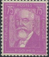 Célébrités. Paul Doumer (1857-1932) 75c. Lilas Neuf Luxe ** Y292 - Nuovi