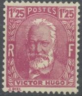 Célébrités. Victor Hugo (1802-1885) 1f.25 Lilas-rose Neuf Luxe ** Y293 - Nuovi