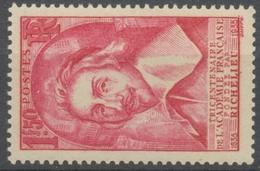 Tricentenaire De L'Académie Française. Armand-Jean Du Plessis, Cardinal De Richelieu 1f.50 Rose Neuf Luxe ** Y305 - Nuovi
