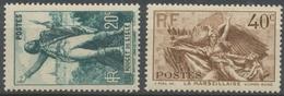 Centenaire De La Mort De Claude Rouget De Lisle (1760-1836). N°314 à 315 Neuf Luxe ** Y315S - Nuovi