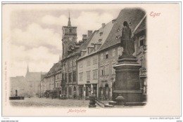 TSCHECHISCHE  REPUBLIK:  EGER  -  MARKTPLATZ  -  KLEINFORMAT - Piazze Di Mercato