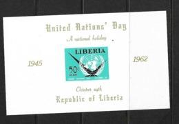 LIBERIA BLOC 1962 JOURNEE DES NATIONS UNIES  YVERT N°B25 NEUF MNH** - Liberia