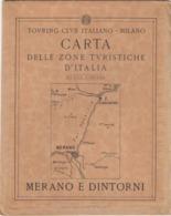 9517-CARTA D'ITALIA DEL TOURING CLUB ITALIANO-MERANO E DINTORNI - Carte Geographique