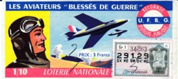 Loterie Nationale Les Aviateurs Blessés De Guerre 1963 N°29129/34tr/Gr1/6 - Billets De Loterie