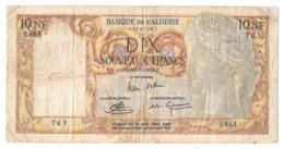 Billet, ALGERIE, 10 Nouveaux Francs Banque De L'Algérie 29/07/1960 T S.463 765 - Algerien