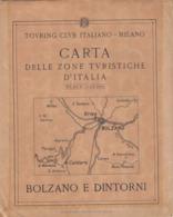 9518-CARTA D'ITALIA DEL TOURING CLUB ITALIANO-BOLZANO E DINTORNI - Carte Geographique