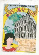 Cp, Bourses & Salons De Collections, 1 E Exposition Cartes Postales , SAINT MARCELLIN , 1986 - Bourses & Salons De Collections