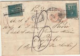 Toscana Governo Provvisorio 3 Maggio 1859 6+6 Cr. Da Firenze X Napoli POCHE NOTE - Toscana