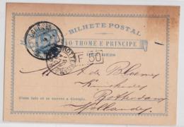 São Thomé E Principe Bilhete Postal Dez Reis 1890 Rotterdam Carte Entier Stationary Postcard - St. Thomas & Prince
