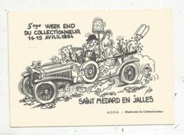 Cp, Bourses & Salons De Collections, 5 E Week End Du Collectionneur,1984 ,vierge ,timbrée ,oblitérée ,n° 1338 - Bourses & Salons De Collections