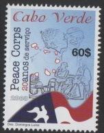 Cabo Verde 2008 - Corpo Da Paz Peace Corps Dove Colombe Friedenstaube Corps De La Paix 1 Val MNH - Isola Di Capo Verde