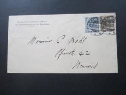 DR 1900 Reichspost Knaben Erzeihungs Anstalt Der Brüdergemeinde Zu Neuwied Krone / Adler MiFNr. 45 U.52 Ortsbrief - Briefe U. Dokumente
