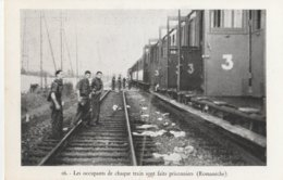 CPA GUERRE 39/45 71 ROMANECHE LIBERATION RESISTANTS PRISONNIERS DANS TRAIN   ETAT - Guerra 1939-45