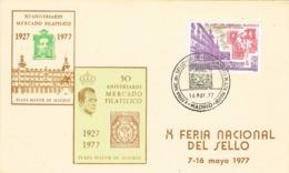 33883. Tarjeta MADRID 1977. Feria Del Sello Plaza Mayor - 1931-Hoy: 2ª República - ... Juan Carlos I