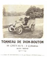 """PUB VEHICULES  """" TONNEAU DE DION-BOUTON """"   1904 ( 1 ) - Other"""