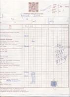 FACTURE PORTUGAL (avec Timbre Taxe?), POUSADA DOS LOIOS, EVORA, En 1967! - Portugal
