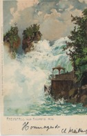 Suisse, RHEINFALL, Von Fischetz Aus, Scan Recto Verso - Autres
