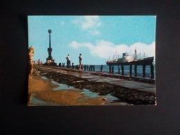 Hoek Van Holland Pier Met Zicht On Nieuwe Waterweg Ship Cargo? 4x6 Postcard - Handel