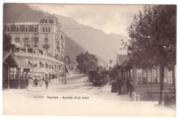 TERRITET -  2 Cartes  : Arrivée D'un Train Et Funiculaire De GLION - VD Vaud
