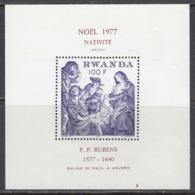 Rwanda 1977 - Christmas, Rubens Paintings, Michel Block 83, MNH** - Rubens