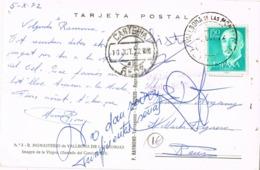 33886. Postal VALLBONA De Las MONJAS (Lerida) 1972. Devuelto Remitente CARTERIA De Reus - 1931-Hoy: 2ª República - ... Juan Carlos I