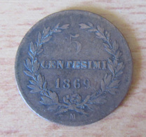 Saint Marin / San Marino - Monnaie 5 Centesimi 1869 M - Saint-Marin