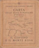 9522-CARTA D'ITALIA DEL TOURING CLUB ITALIANO-IL CERVINO E IL MONTE ROSA - Carte Geographique