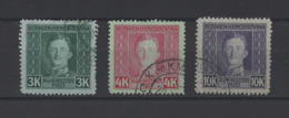 BOSNIE-HERZEGOVINE.  YT   N° 135-136-137  Obl  1917 - Bosnie-Herzegovine