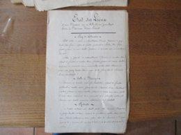 LILLE LE 31 JANVIER 1887 ETAT DES LIEUX D'UNE MAISON 26 RUE JEAN BART LOUEE A MONSIEUR WAREIN PREVOST - Manuscrits