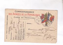 CPA CORRESPONDANCE MILITAIRE EN FRANCHISE En 1915! - Militaria