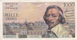 RICHELIEU 1000 FRANCS Du 5 . 5 . 1955 - 1955-1959 Surchargés En Nouveaux Francs