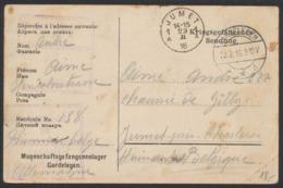 """Guerre 14-18 - Armée Belge En Campagne (Russie) """"ACM"""" : Carte (bilingue) D'un Prisonnier Belge à Gardelegen (1916) Vers - Guerra '14-'18"""