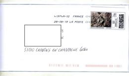 Lettre Flamme Chiffree Sous Code Symbole Inegalite Sur Timbre En Ligne Pas Sur Lune - Marcophilie (Lettres)