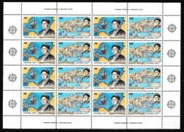 1992 Grecia Greece EUROPA CEPT EUROPE 8 Serie Di 2v. MNH** In Minifoglio Minisheet - Europa-CEPT