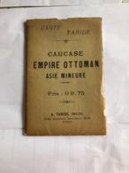 Carte Taride : Caucase Empire Ottoman Asie Mineure - Mapas Geográficas