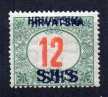Sello Nº Taxe 4 Double Sobrecarga  Yugoslavia - Impuestos