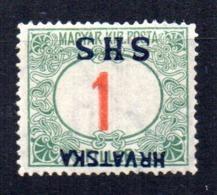 Sello Nº Taxe 1    Sobrecarga Invertida  Yugoslavia - Impuestos