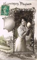 33894. Postal Romantique CHEF BOUTONNE (Deux Sevres) 1914. Vintage - Francia