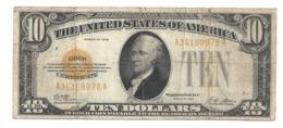 10 Dollars 1928 USA. - Certificati D'Oro (1928)