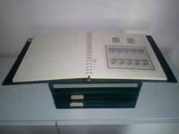 "MONACO : 3 RELIURES ""LINDNER"" AVEC POCHETTES INTEGREES + ETUI - PERIODE 1970 A 1991 - Albums & Reliures"