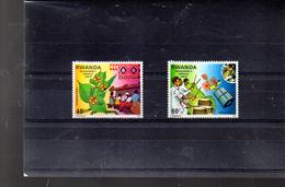 RWANDA 876/877** SUR PHILEXAFRIQUE II - Rwanda