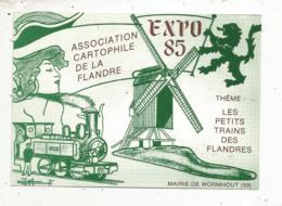 Cp, Bourses & Salons De Collections, Expo 1985 , Association Cartophile De La Flandre ,WORMHOUT ,59, Vierge - Bourses & Salons De Collections