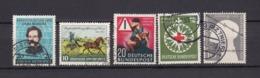 BRD - 1952/53 - Michel Nr. 155+160+162+164+165 - Gest. - 27 Euro - BRD