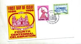 Lettre Fdc 1986 Eglise Quiapo - Philippines