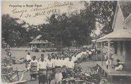 Polynésie Française, PREPARING A ROYAL FEAST, Scan Recto Verso - Polynésie Française